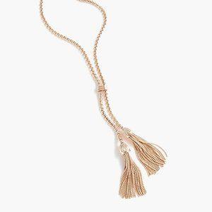 J. Crew Rose Gold Tassel Necklace